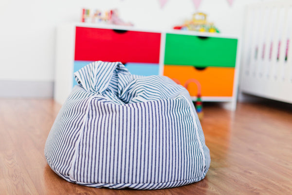 Mocka Kids Beanbag - Blue stripes