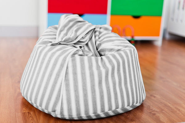 Mocka Kids Beanbag - Grey stripes