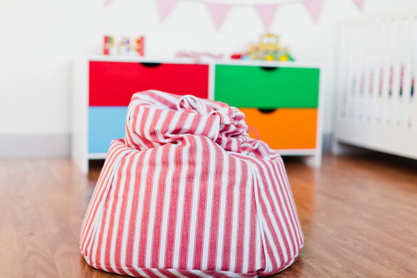 Mocka Kids Beanbag - Red stripes