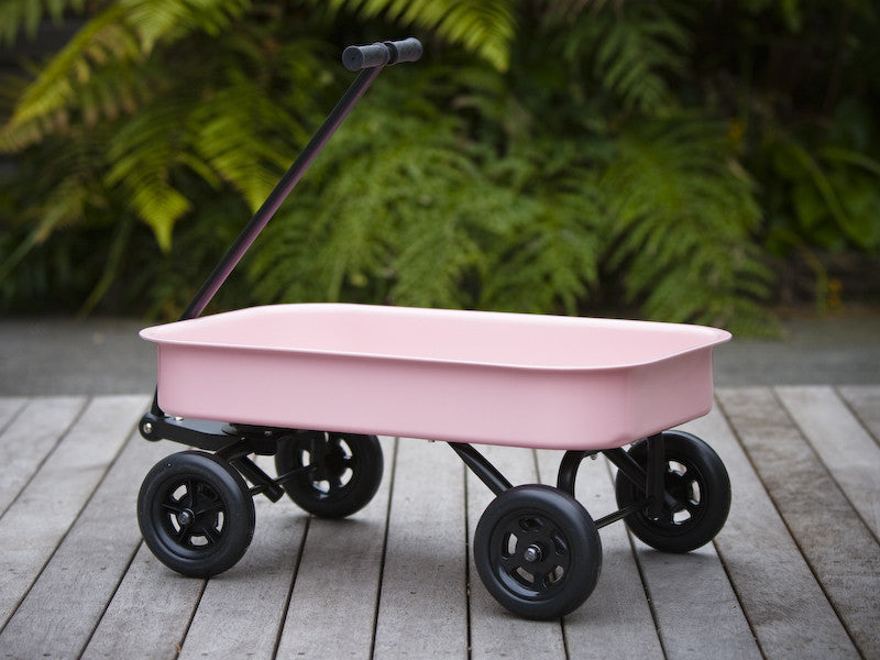 Childrens steel wagon - Pink