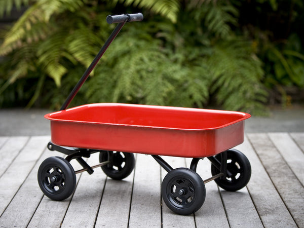 Childrens steel wagon - Red