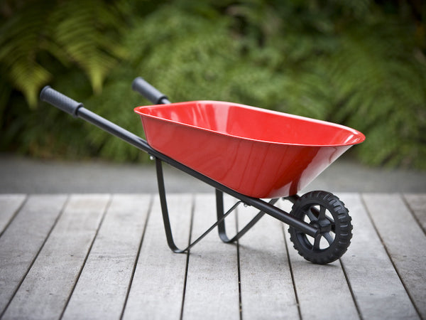 Kids Steel Wheelbarrow - Red