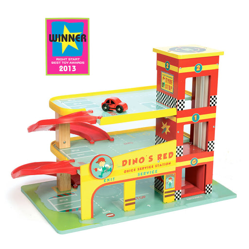 The award winning Dino's Garage by Le Toy Van