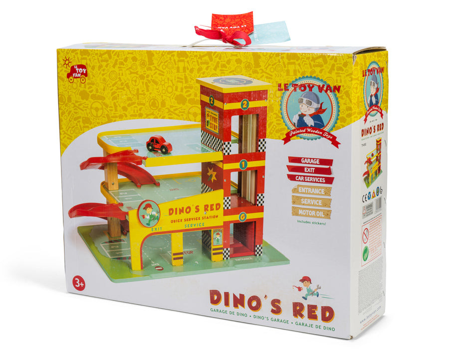The award winning Dino's Garage by Le Toy Van (boxed)