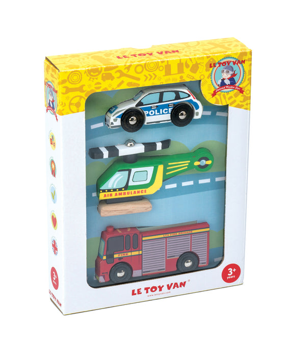 Emergency Vehicle Set from Le Toy Van (boxed)