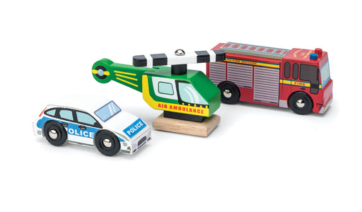 Emergency Vehicle Set from Le Toy Van