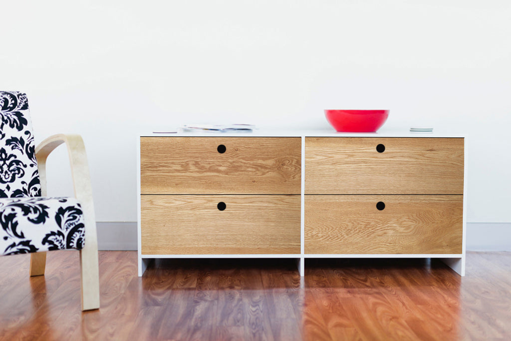 Brooklyn Drawers - Natural/White