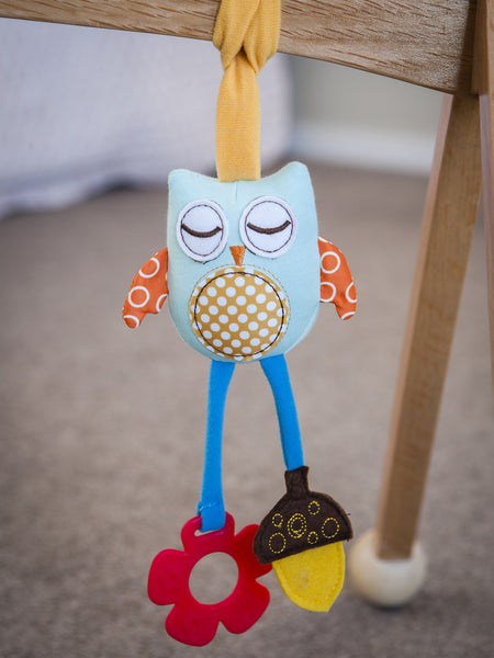 Gorgeous owl on Wooden Baby Play Gym