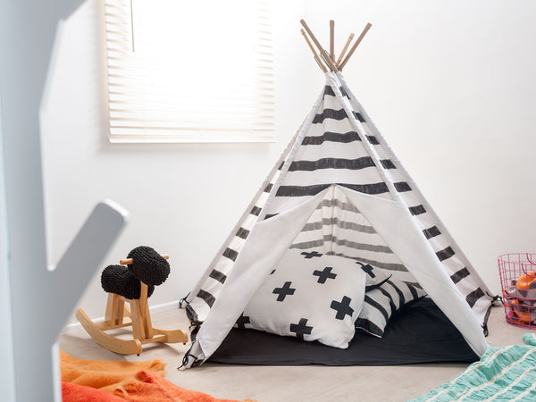 Mocka Teepee - Black Stripe