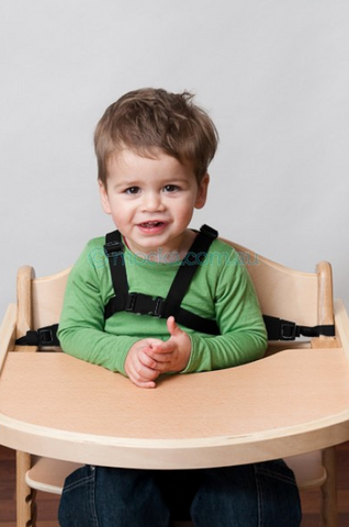 Highchair harness designed for the Mocka Original & Soho wooden highchairs