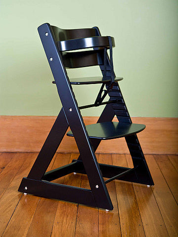 Mocka Soho Wooden High Chair - Black