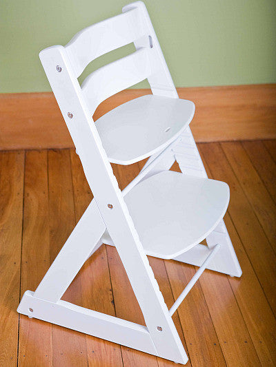 Mocka Soho Wooden High Chair - White