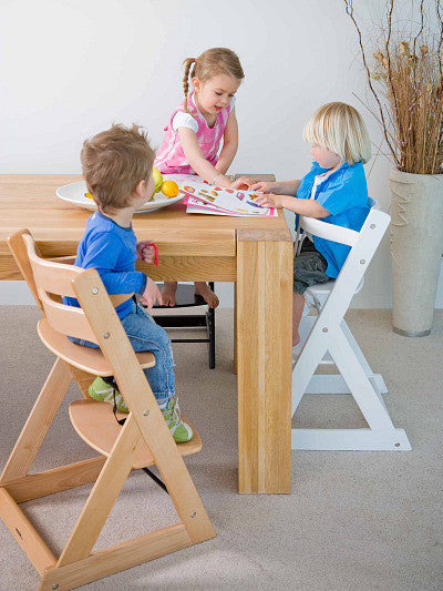 Mocka Soho Wooden High Chair - sit up at the table