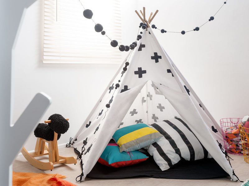 Mocka Teepee - Black Cross
