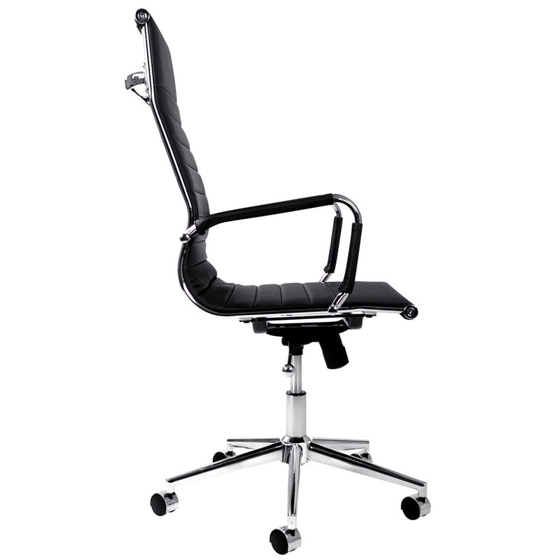 Eames Replica High Back Office Chair in PU Leather