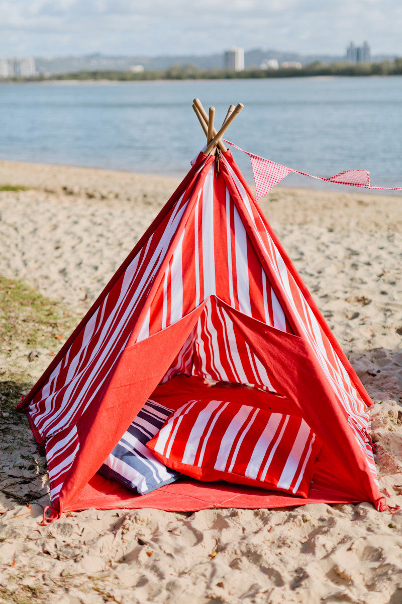 Mocka Teepee - Red Stripe