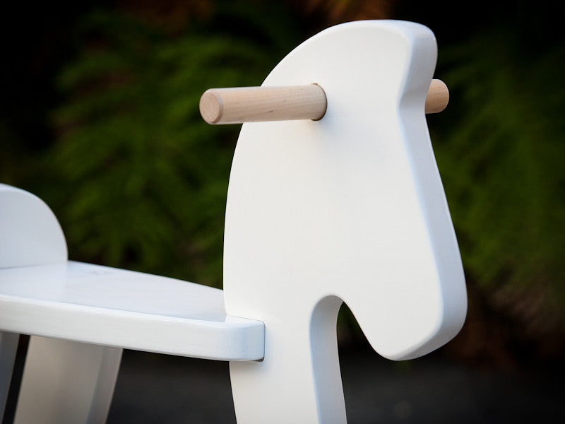 Wooden Rocking Horse - White
