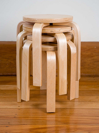 Mocka Kids Wooden Stools - stackable