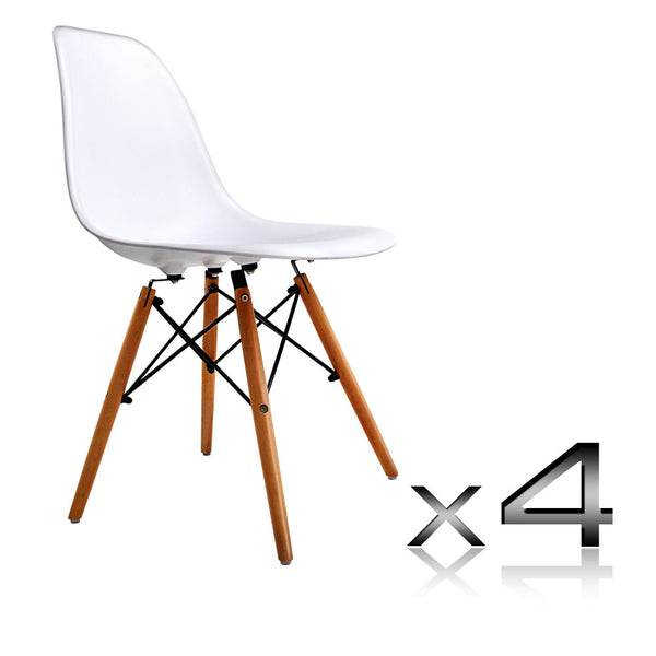 Replica Eames Dining Table & Set of 4 Replica Eames Chairs