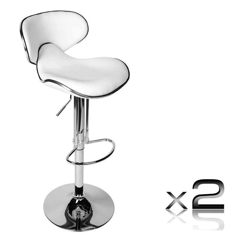 PU Leather Kitchen Bar Stool (Pair)