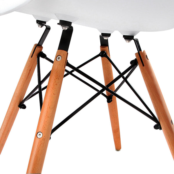 Set of 2 Replica Eames Cafe Chairs Beech
