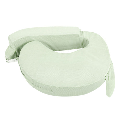 Baby Breast Feeding Support Memory Foam Pillow - Green/White stripes