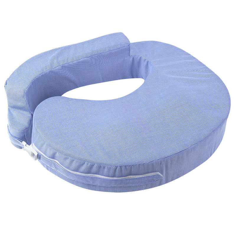 Baby Breast Feeding Support Memory Foam Pillow - Blue/White stripes