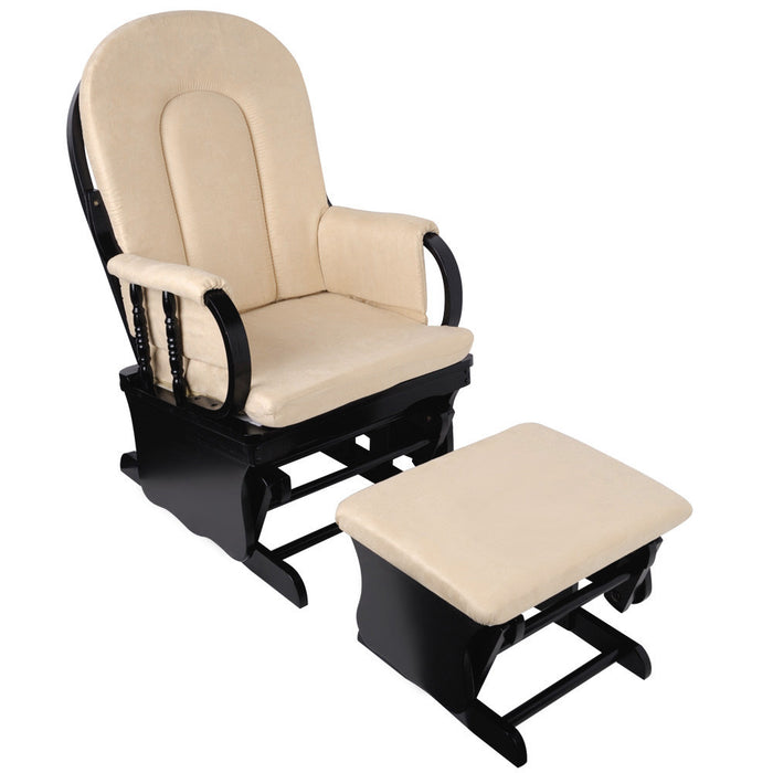 Baby Breast Feeding Chair with Ottoman - Beige