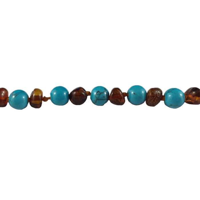 Baltic Amber Necklace - Individually knotted beads for safety