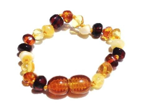 Baltic Amber Bracelet - Multicolour