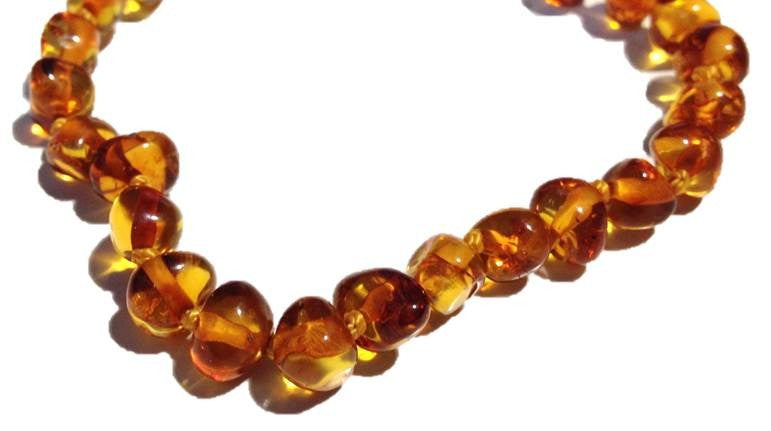 Baltic Amber Bracelet - Individually Knotted