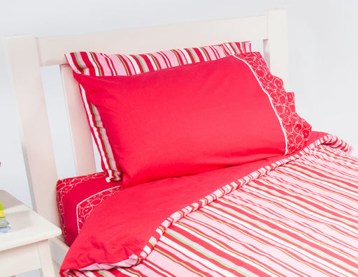Watermelon Stripe Quilt Cover Set