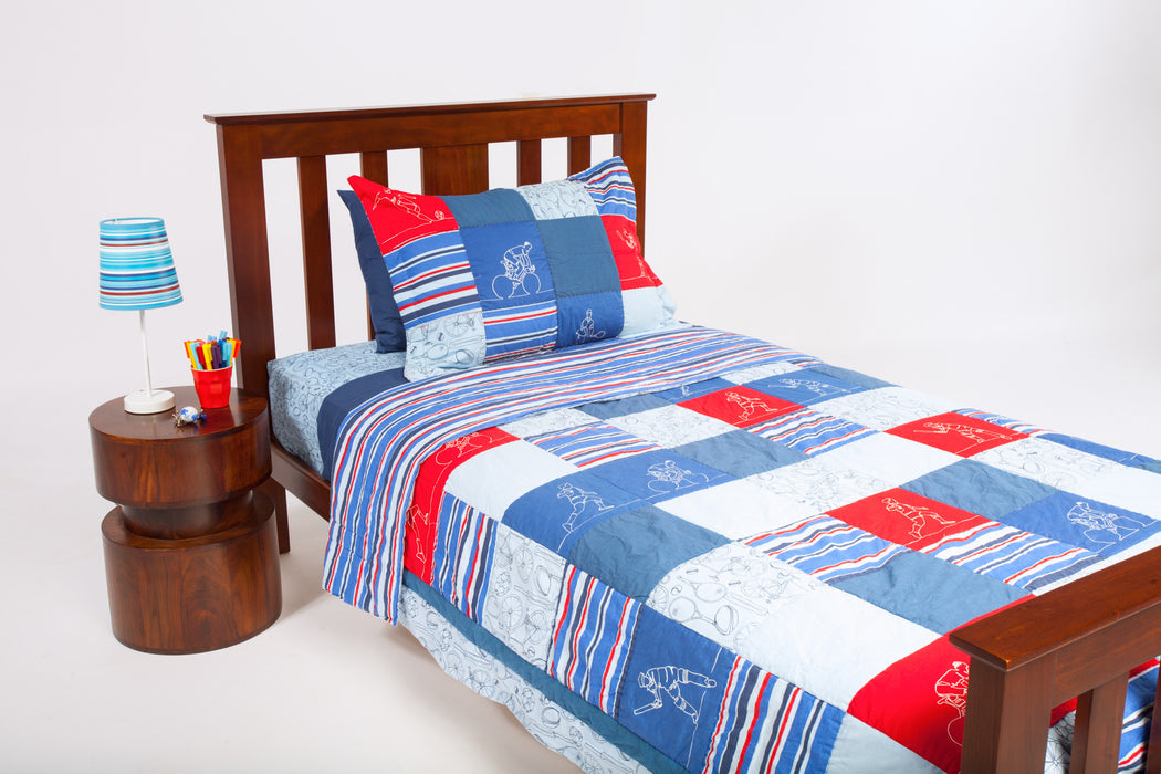 Kids Coverlet - Sports Patchwork