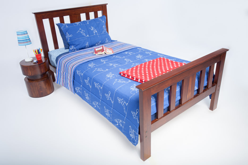 kids Sports Coverlet with Red Throw