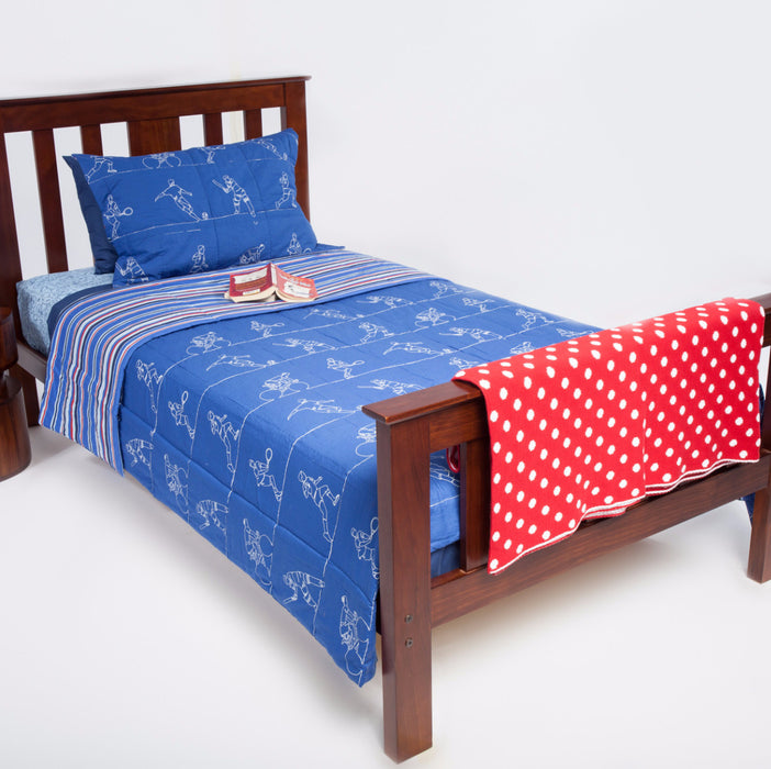 Sports Kids Coverlet and Red Spotted Throw - Cool Kids Rooms Bedding