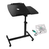 Rotating Mobile Laptop Adjustable Desk Inc USB Cooler Black