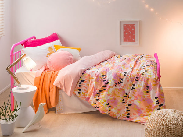 Sonata Single Bed & Mattress - Pink