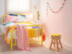 Sonata Single Bed & Mattress - Yellow