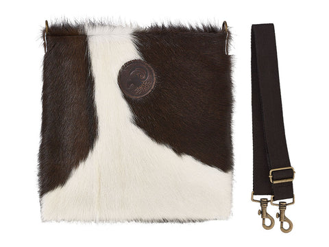 Messenger Bag in Holstein Cow Hide
