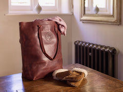 Shopper Bag in Rosewood Leather