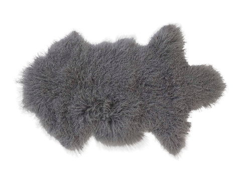 Luxury Tibetan Lambskin in Silver Grey