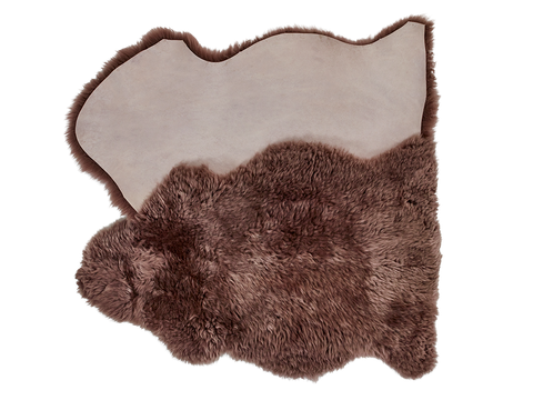 Taupe Sheepskin Dog Bed