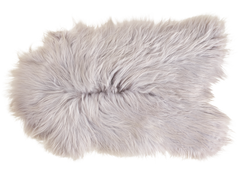 Luxury Icelandic Sheepskin in Silver Grey