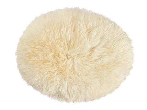 Natural Cream Oval Sheepskin