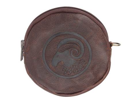 Round Coin Purse in Leather (in 3 colours)