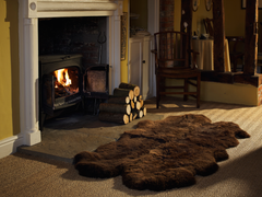 Rare Breed Brown Sheepskin Rug/Throw