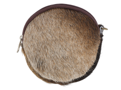 Round Coin Purse in Cowhide
