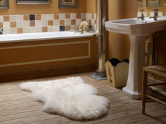 Natural Cream Sheepskin Rug/Throw