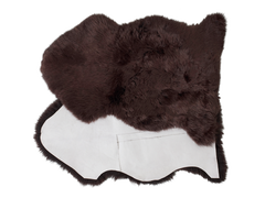 Chocolate Sheepskin Dog Bed