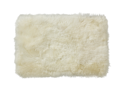 Sheepskin Dog Bed in Cream